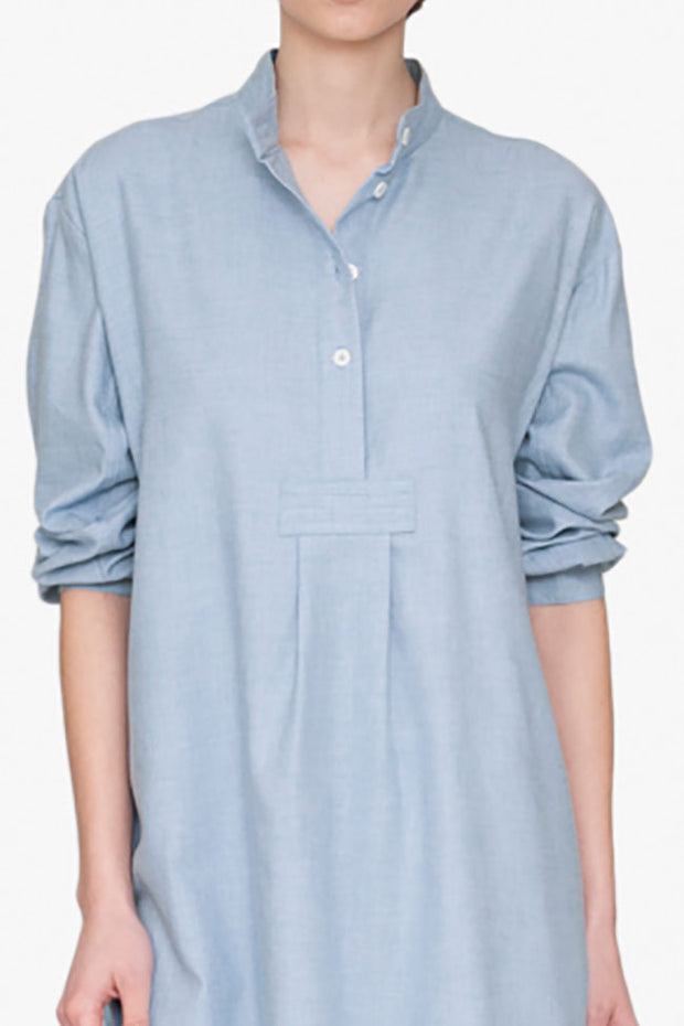 Short Sleep Shirt Blue Cashmarello