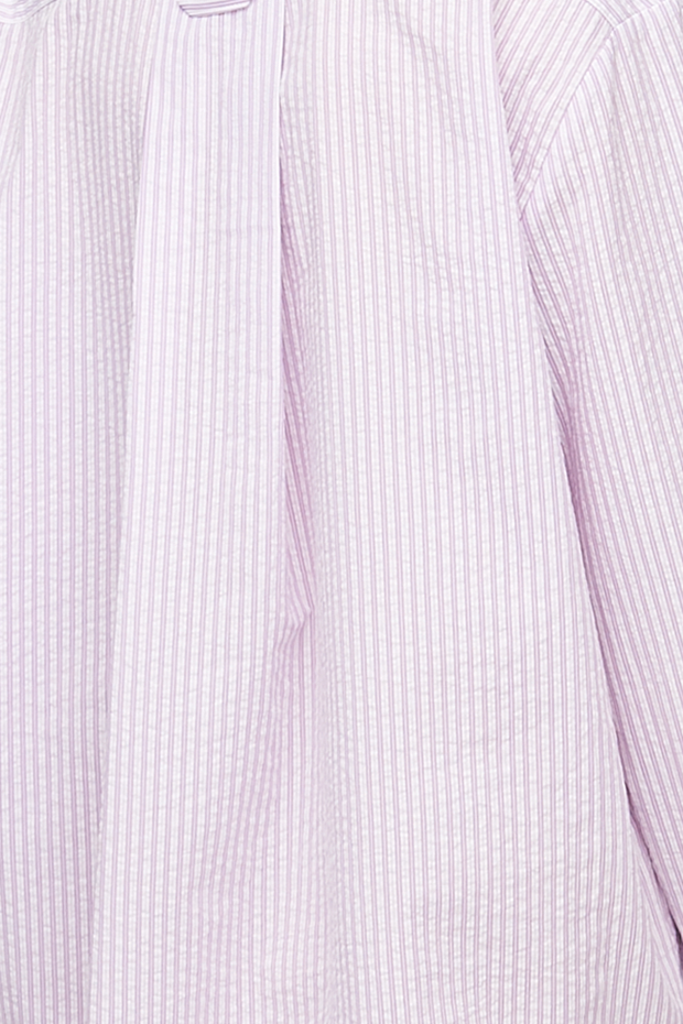 Short Sleep Shirt Lilac Seersucker Stripe