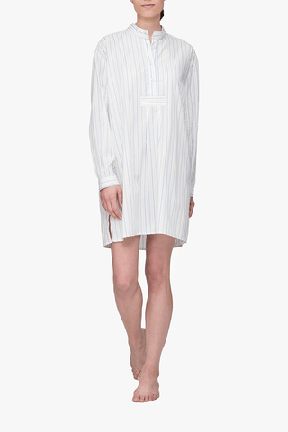 Short Sleep Shirt Memphis Stripe