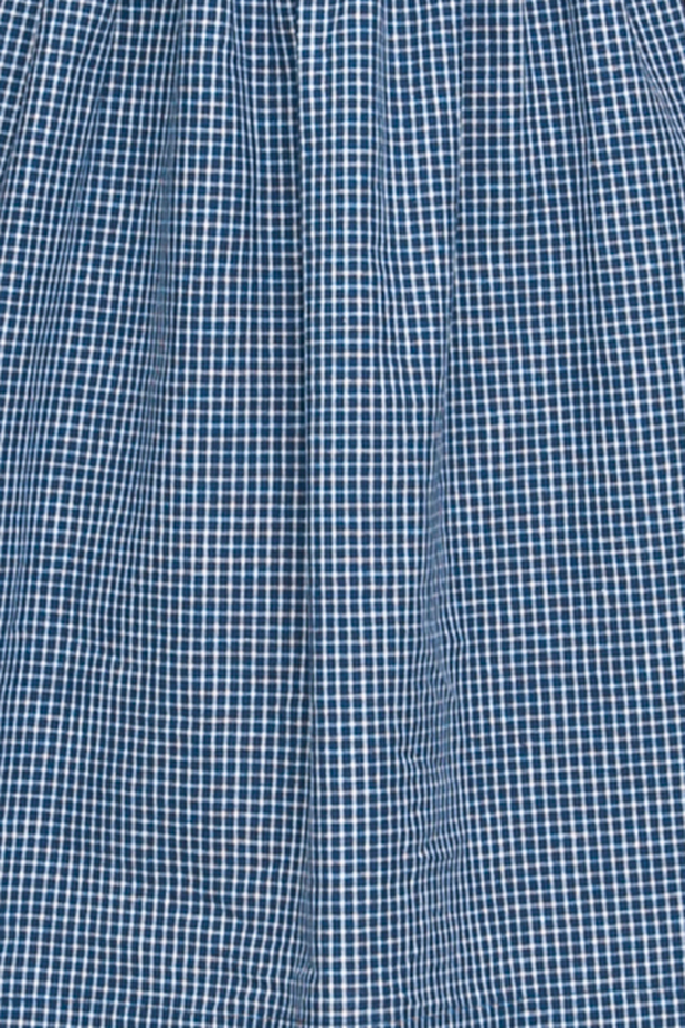 Short Sleep Shirt Small Navy Windowpane Check