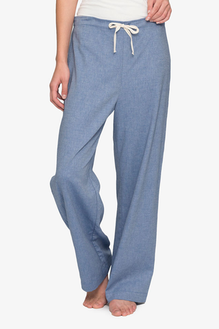 front view classic lounge pants in navy cotton twill by the Sleep Shirt