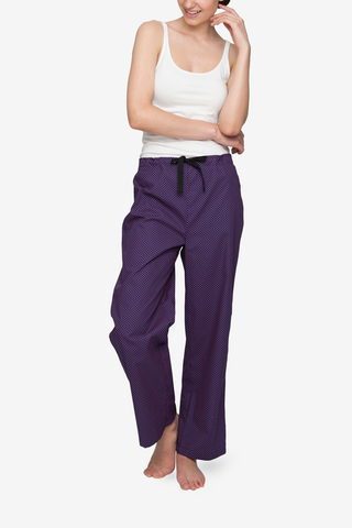 Lounge Pant Navy with Red Dot