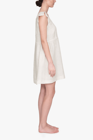 Scoop Neck Nightie Oatmeal Linen