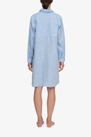 back view knee length button down sleep shirt ocean linen by the Sleep Shirt