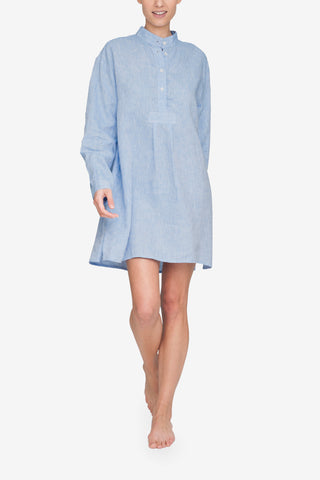 front view classic short sleep shirt ocean linen by the Sleep Shirt