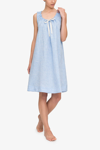 front view sleeveless adjustable neckline nightie nightgown ocean linen blend by the Sleep Shirt
