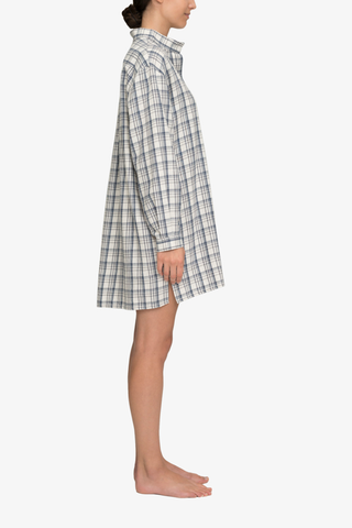 Short Sleep Shirt Overcast Plaid