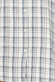 Two Pocket Sleep Shirt Overcast Plaid