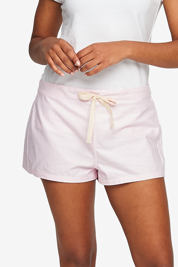 Classic Short Pink Oxford Stripe
