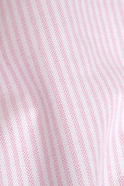 pink oxford stripe cotton fabric by The Sleep Shirt