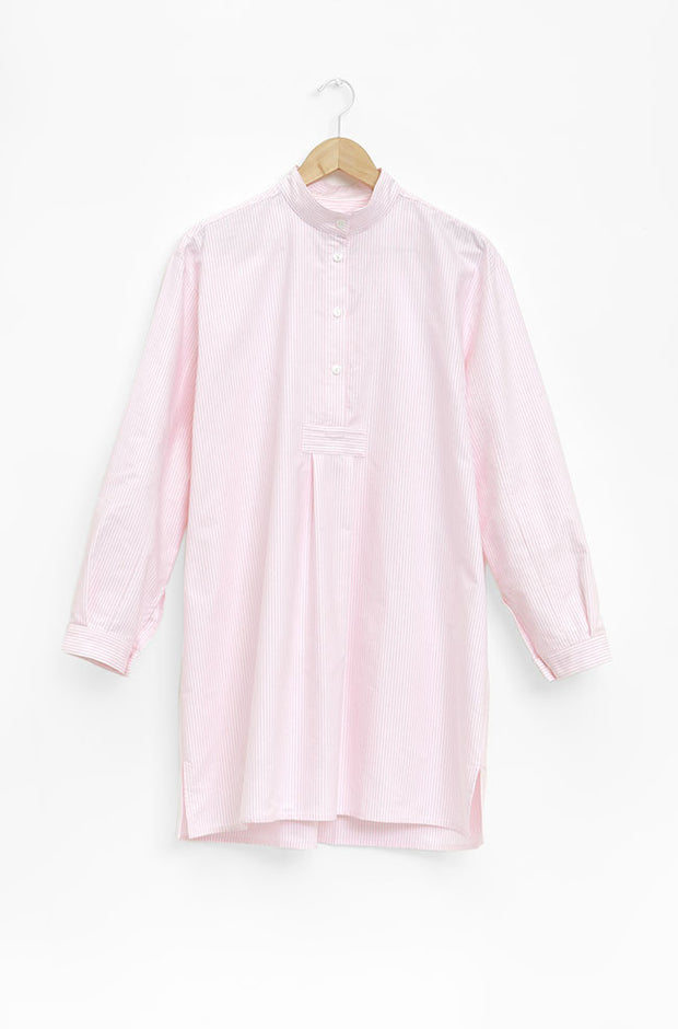 Short Sleep Shirt Pink Oxford Stripe - EUROPE