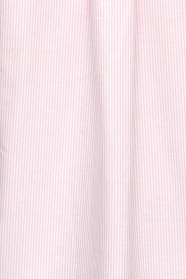 Short Sleep Shirt Pink Oxford Stripe PLUS