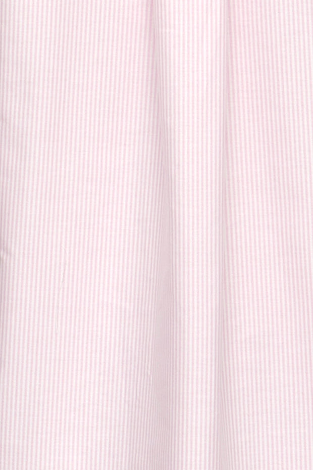 Set - Wrap Top and Ruffle Short Pink Oxford Stripe