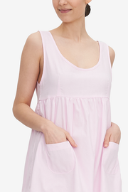 Pocket Nightie Pink Royal Oxford