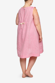 Sleeveless Nightie Raspberry Pink Linen PLUS