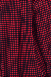 Short Sleep Shirt Red Buffalo Check