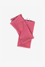 Red Picnic Check Tea Towel - Set of 2