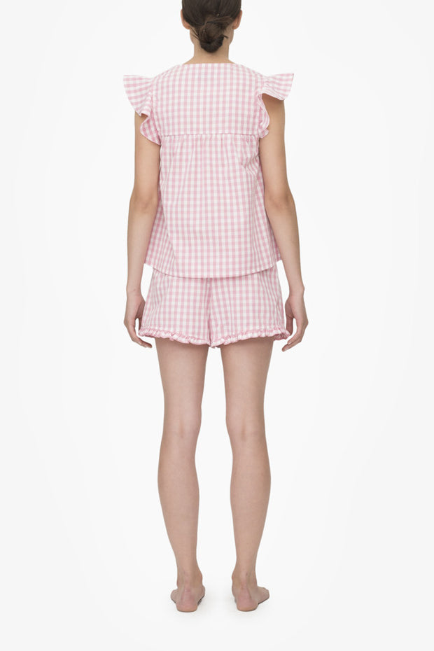 Flounce Top Rosy Gingham