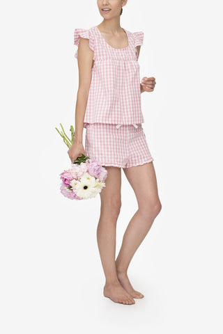 Ruffle Short Rosy Gingham