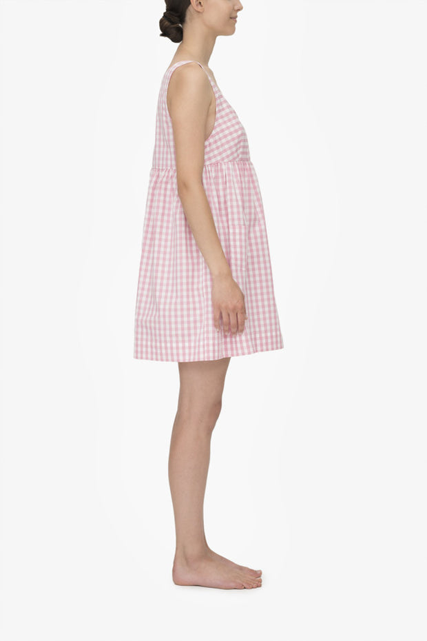 Pocket Nightie Rosy Gingham