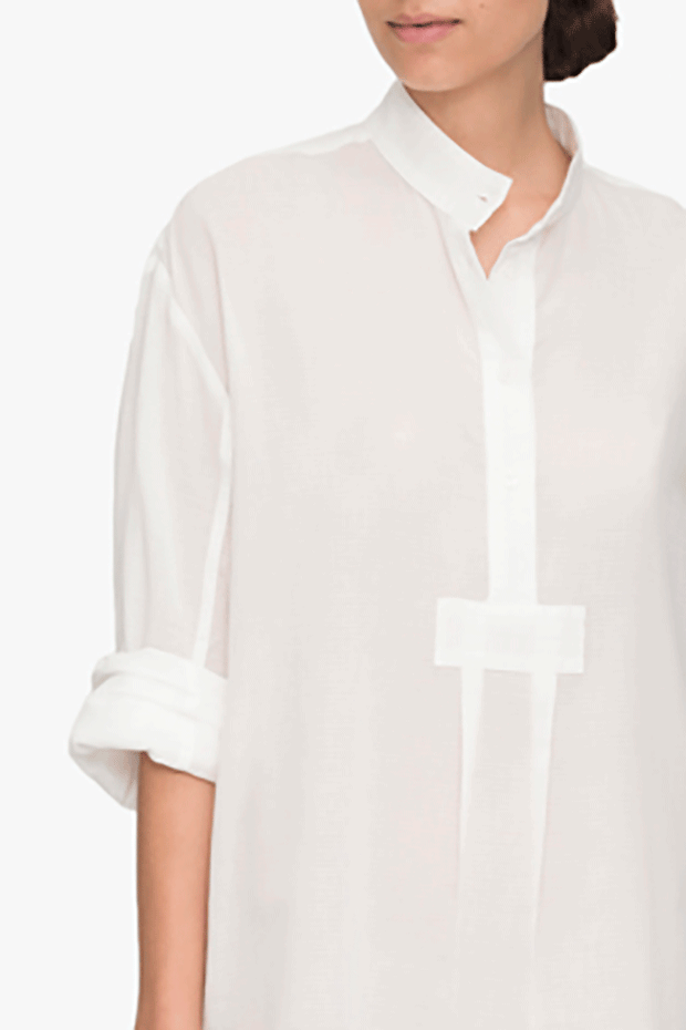 Short Sleep Shirt Sheer Pencil Stripe