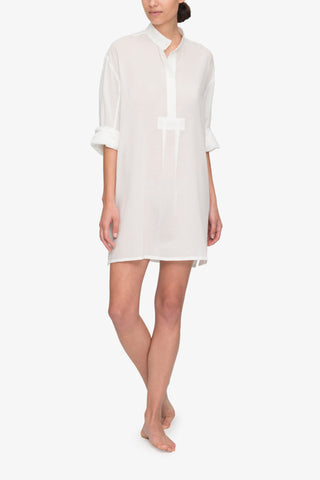 Short Sleep Sheer Pencil Stripe