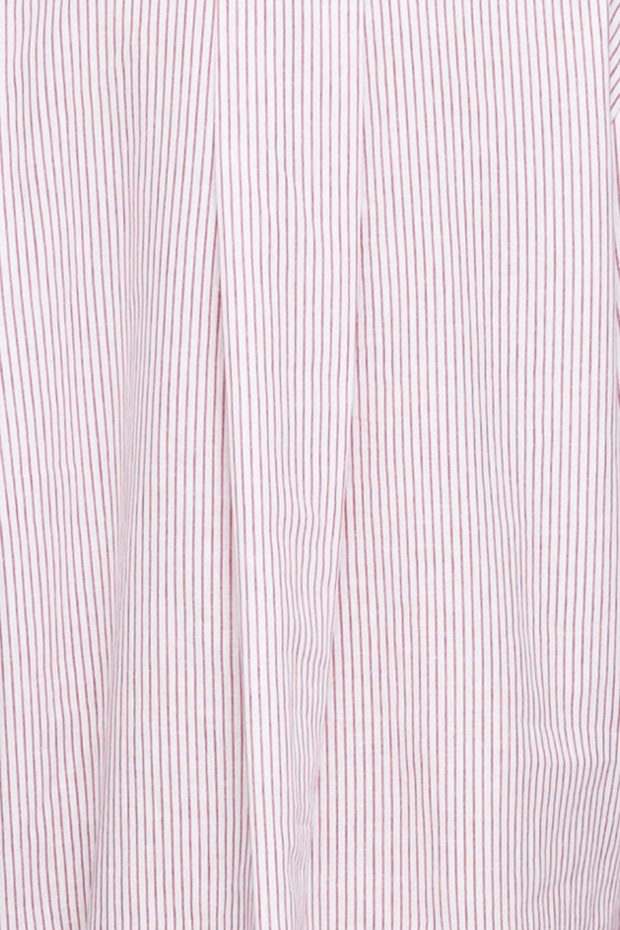 Short Sleep Shirt Skinny Red Stripe Blend