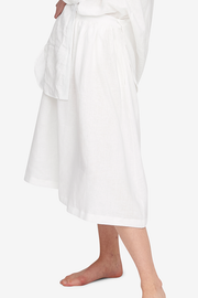 House Skirt White Linen