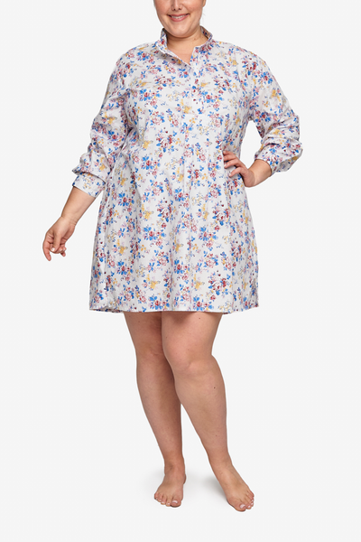 Short Sleep Shirt Summer Floral PLUS