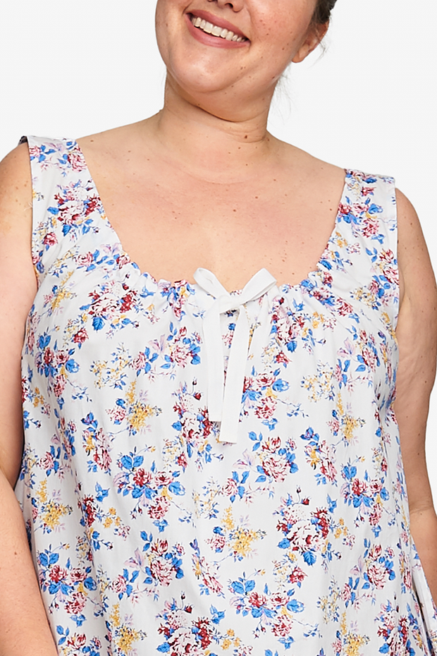 Sleeveless Nightie Summer Floral PLUS
