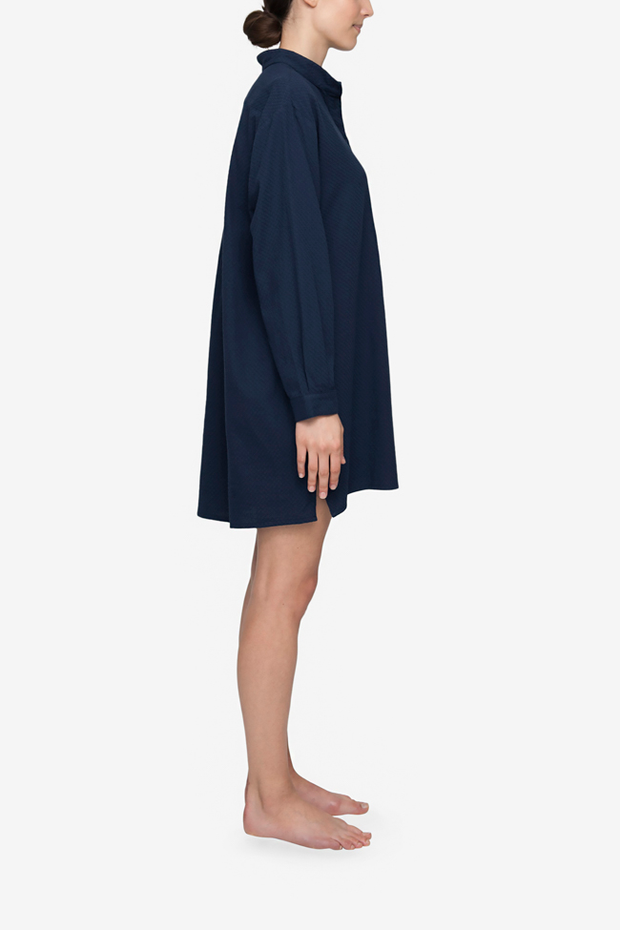 Short Sleep Shirt Navy Bouclé