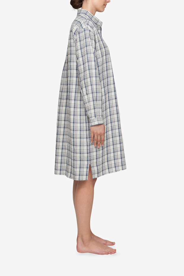 Long Sleep Shirt Overcast Plaid