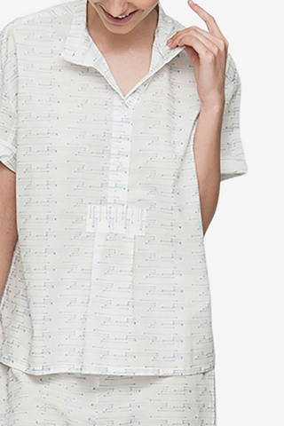 Short Sleeve Cropped Shirt Spock Cotton