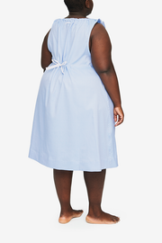 Sleeveless Nightie Periwinkle Twill PLUS