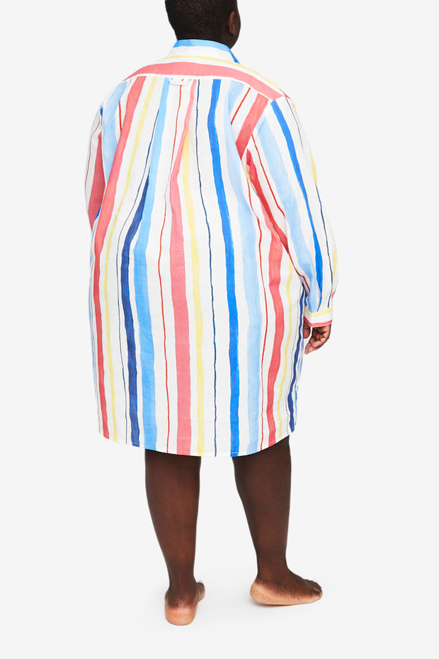 Short Sleep Shirt Midsummer Stripe PLUS - EUROPE