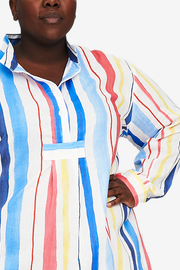 Short Sleep Shirt Midsummer Stripe PLUS