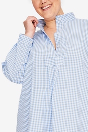 Long Sleep Shirt Periwinkle Gingham PLUS