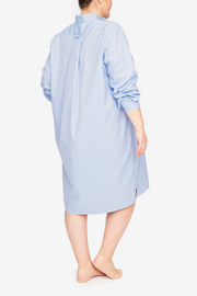 Long Sleep Shirt Periwinkle Twill PLUS