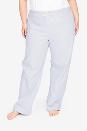 Lounge Pant Blue Oxford Stripe