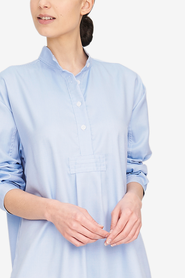Long Sleep Shirt Periwinkle Twill