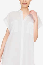 Two Pocket Sleep Shirt Milano Featherweight Blend