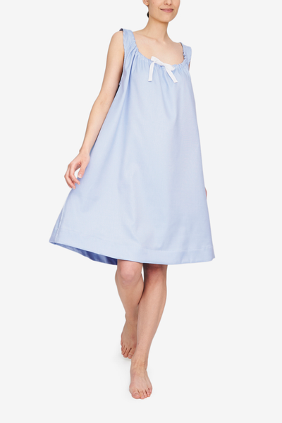 Sleeveless Nightie Periwinkle Twill