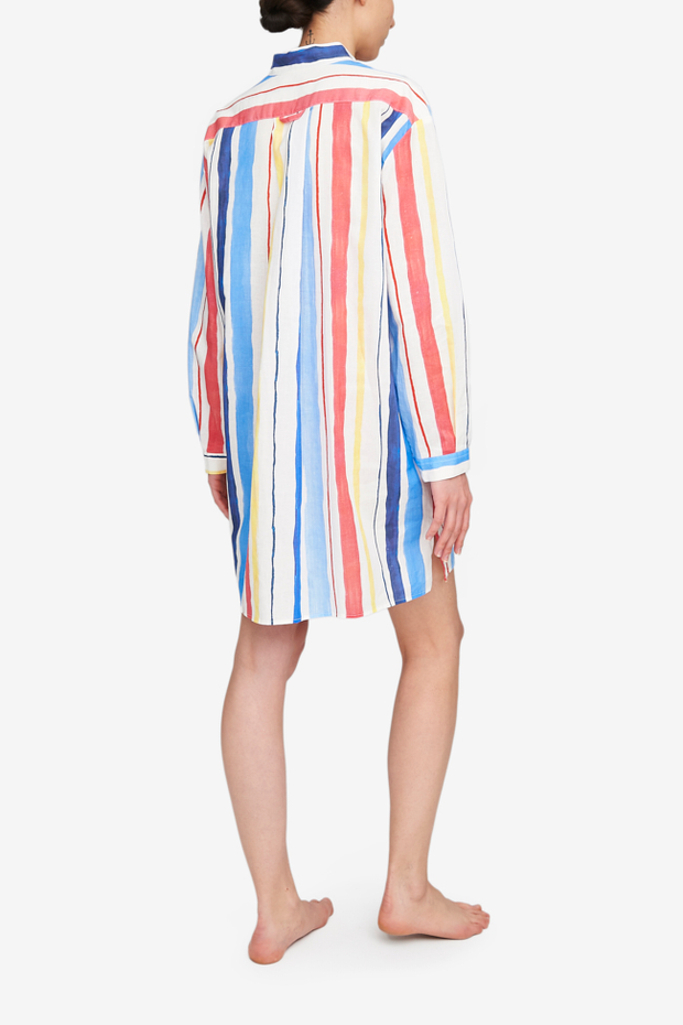 Short Sleep Shirt Midsummer Stripe - EUROPE