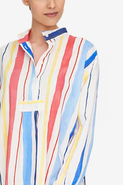 Short Sleep Shirt Midsummer Stripe