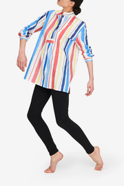 Short Sleep Shirt Midsummer Stripe Petite - EUROPE