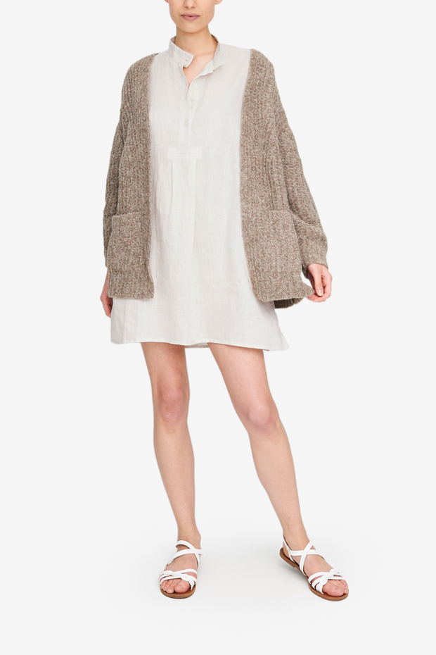 Bare Knitwear Cardigan in Taupe