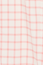 Short Sleeve Cropped Shirt Pink Check Flannel