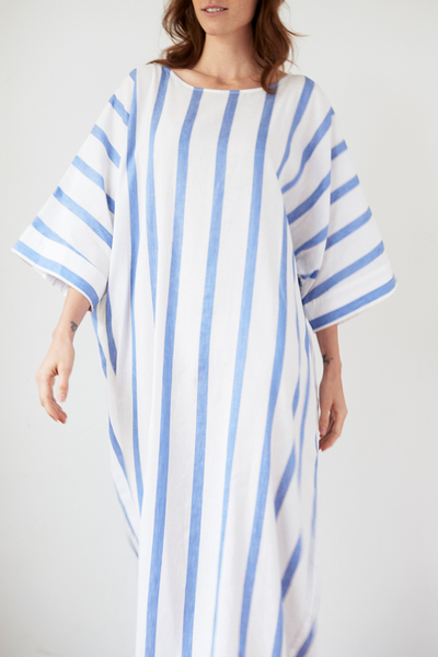 Oversized Kaftan Giant Blue Stripe