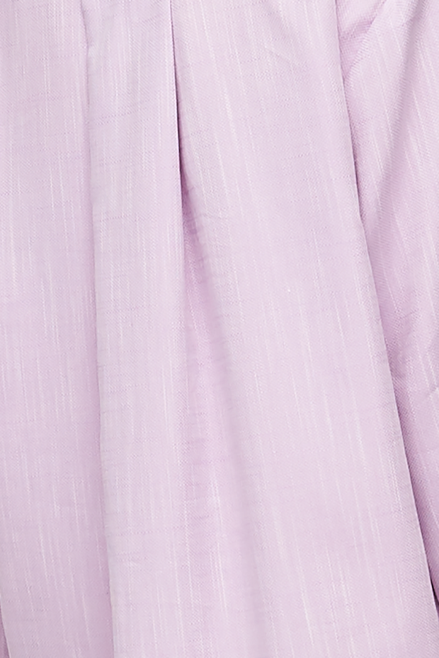 Flared Ruffle Nightie Textured Lilac