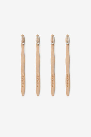 Bamboo Toothbrush - Set of 4